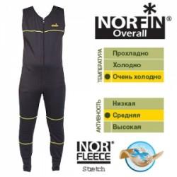 Термобельё Norfin Overall 3 Слой (Ткань:NORFleece Stretch: 90% Polyester + 10% Spandex) 44-46/S