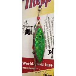 Блесна Вращающаяся Mepps Aglia Long N4 (17g/Silver Green) 1упак*5шт
