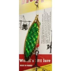 Блесна Вращающаяся Mepps Aglia Long N4 (17g/Gold Green)