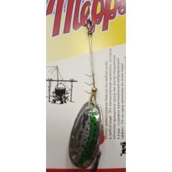 Блесна Вращающаяся Mepps Aglia N2 (4,5g/Silver Green Trout)