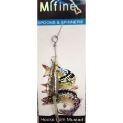 Блесна Вращающаяся Mifine KX8027 (6g/1-Silver)