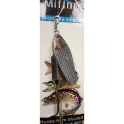 Блесна Вращающаяся Mifine KX8001 (15g/1-Silver)