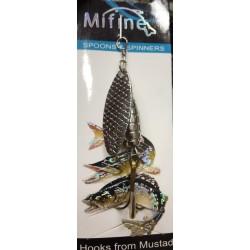 Блесна Вращающаяся Mifine KX8100 (10g/1-Silver)