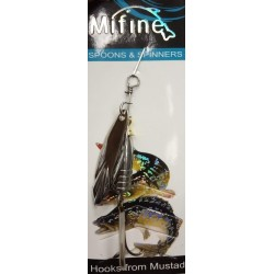 Блесна Вращающаяся Mifine KX8080 (8g/1-Silver)