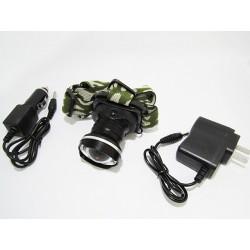Фонарь Налобный Headlamp 6807 (50000W/Zoom/ЗУ+Прикуриватель)