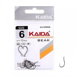 Крючки Kaida Beak Red N2 (829902/10шт) 1связка*10упак