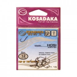 Крючок Kosadaka Hosi 3063 Red-11/0.45mm (1упак*12шт) 5 упак