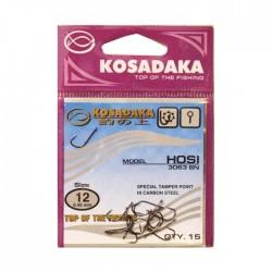 Крючок Kosadaka Hosi 3063 Red-11/0.45mm (1упак*12шт) 5 упак