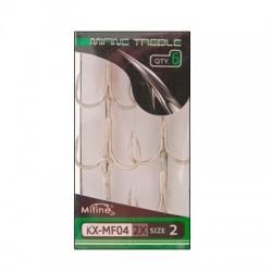 Крючки Mifine KX-MF04/2X  4 (Тройные) 1упак*8шт