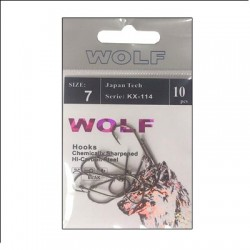 Крючки Wolf KX-114 N12 (10шт) 1связка*10упак