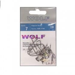 Крючки Wolf KX-116 N12 (10шт) 1связка*10упак