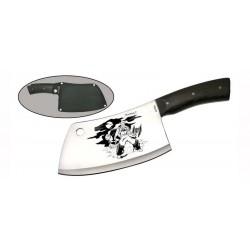 Нож Витязь B143-33/Мясник-2 (Кухонный/Сталь-40X13/Рукоять-Дерево/Чехол-Кордура)