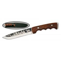 Нож Витязь B121-33/Алтай (Сталь-65X13/Рукоять-Дерево/Чехол-Нейлон)