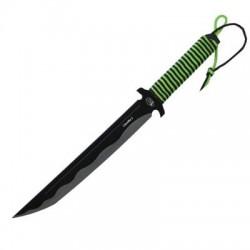 Нож Мастер К M9619/Синоби-2 (Мачете/Сталь-420/Рукоять-Обмотка Шнуром/Чехол-Кожзам