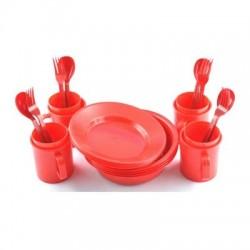 Набор Посуды Три Кита Пластик (4 Персоны/24 Предмета/Контейнер)