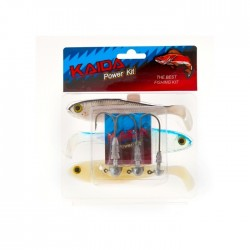 Силиконовые приманки Kaida Power Kit AG00605 (3 штуки + джиггер)