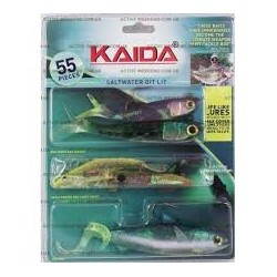 Силиконовые приманки Kaida Saltwater Git Lit AG009 (5 штук)