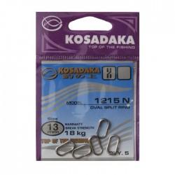 Кольца заводные овальные Kosadaka Oval Split Ring 1215N-10/10kg (1упак*5шт) 5 упак
