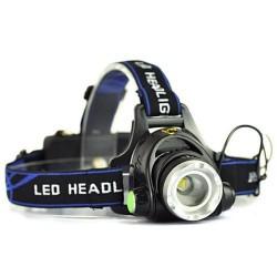 Фонарь Налобный Headlamp HL-19-T6 (58000W2x9800mAh/Zoom/ЗУ+Прикуриватель