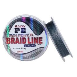 Шнур Kaida Braid Line Strong (Gray/0,18mm/10,8kg/110m)