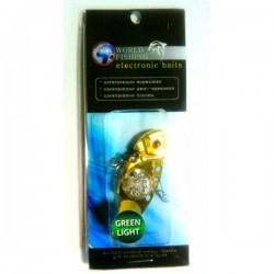 Блесна Электронная Цикада World Fishing Black metall (57mm/14g/Зеленое Сияние)