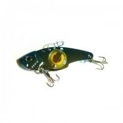 Блесна Электронная Цикада World Fishing Blue metall (57mm/14g/Зеленое Сияние)