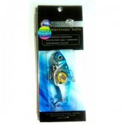 Блесна Электронная Цикада World Fishing Blue metall (57mm/14g/Тройное Сияние)