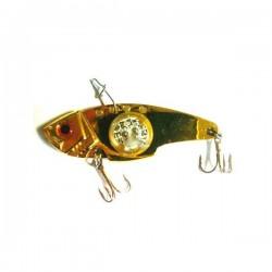 Блесна Электронная Цикада World Fishing Gold metall (57mm/14g/Синее Сияние)
