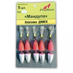 Мандула Profilux Двухсоставная (50мм/3,5г/Серебряно-красная) 1упак*5шт