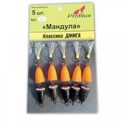 Мандула Profilux  Одинарная (50мм/4г/Оранжево-чёрная) 1упак*5шт