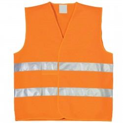 Жилет Дорожный Оранжевый (Со Светоотражателями)