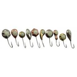 Мормышка РВС Тип-42/камень перл. Ф5 (Фосфор) 1набор*50шт