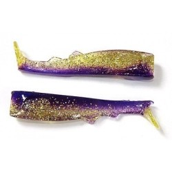 Силиконовая приманка Lucky Craft JR Swimbait Tails 3-HT01 (Indigo/Gold) 1упак*5шт