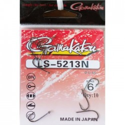 Крючки Gamakatsu LS-5213N N 6 (10шт) 1связка*10упак